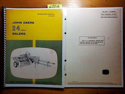 John Deere 24 Series 24t 24ws Baler Owners Operators Manual 867 Parts 668