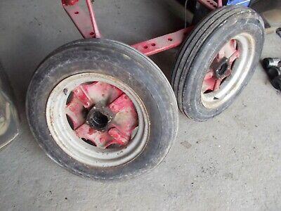Mccormick Deering Farmall F30 F20 Tractor Front Rims 5.50 X16 Tires