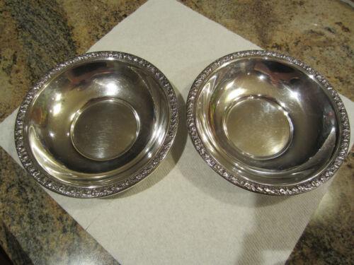 """Sterling Bowl(s) (Fruit pattern along edge) (6 1/8"""") No mono"""