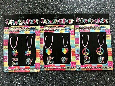 NEW 2pcs Fashion BEST FRIEND Necklace Pendant Jewelry Best Friend Gift 3