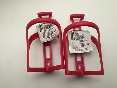 Braze-On//Clamp Vtg Clear or Red NOS RHODE GEAR Velcro Water Bottle//Cage
