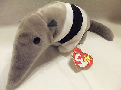 """TY Beanie Babies 9"""" Anteater ** ANTS ** 5th Gen New with Tag"""