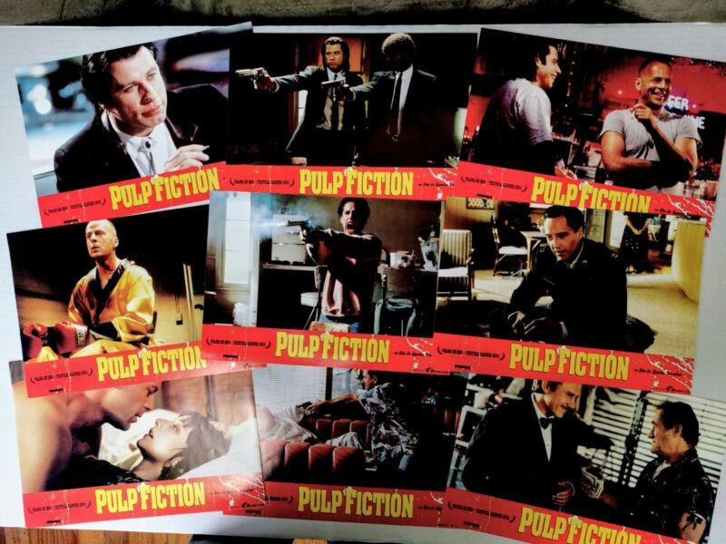 Pulp Fiction Original Spanish Lobby Card Set Nine Cards