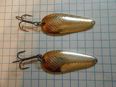"""L@@K! (2 LOT) COLLECTABLE ADVERTISING """"BRYLCREME'S ROYAL SPOON"""" FISHING LURES"""