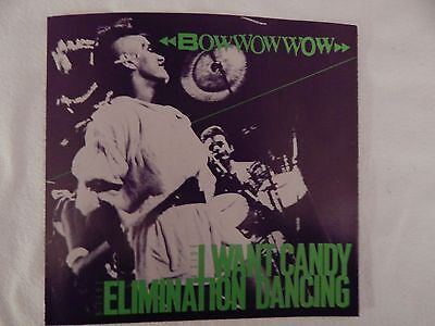 Bow Wow Wow   I Want Candy  Picture Sleeve  Brand New  Only New Copy On Ebay