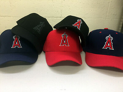 Anaheim Angels Cap - Los Angeles Angels Cap Hat of Anaheim Embroidered LA Adjustable Curved Men