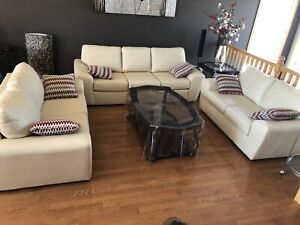 Couch and two loveseats in excellent condition.