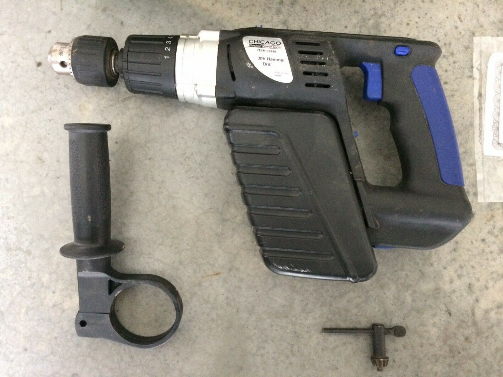 Chicago Electric Item 93449 30V Cordless Hammer Drill Heavy