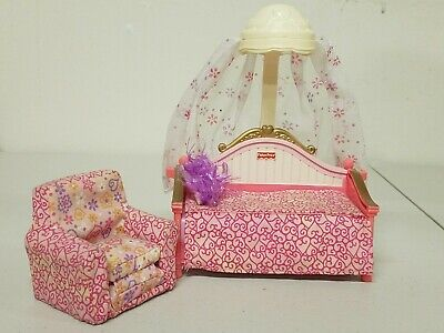 Fisher Price Loving Family Dollhouse Furniture- Girl's Bed and Chair