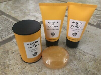 New Acqua di parma Travel Size Shampoo, conditioner, Bath Salt And Soap