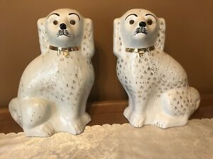 Pair of Sadler Burslam Staffordshire Mantle Dogs