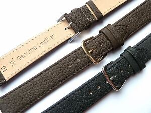 Black-Brown-Xtra-Extra-Long-XL-High-Quality-Leather-Watch-Band-Strap-8-22mm