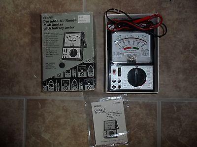 Vintage Sears Multimeter Wbattery Tester 982364 50000 Ohmsvolt Dc 41 Ranges