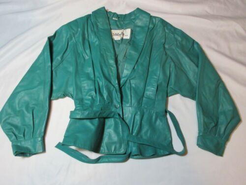 Vintage WILSON Leather Belted Belt Jacket Women