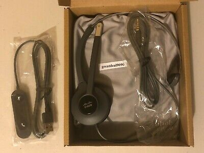NEW - Cisco 521 Series - Single Wired Headset -  CP-HS-W-521-USB=