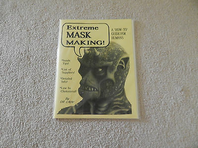 EXTREME MASK MAKING MAGAZINE DR LADY HOW TO GUIDE FOR HUMANS RARE MONSTERS