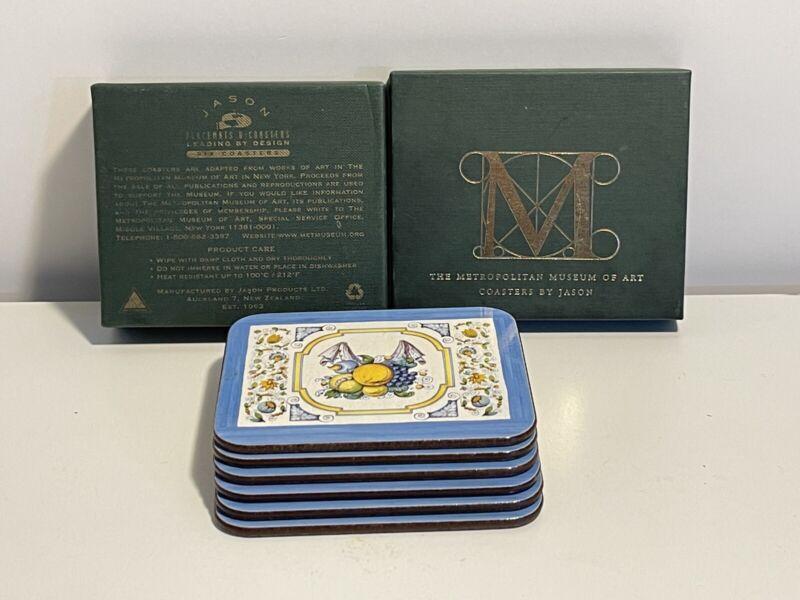 RARE The Metropolitan Museum of Art Coaster Placemats Swedish Tile Design Set of