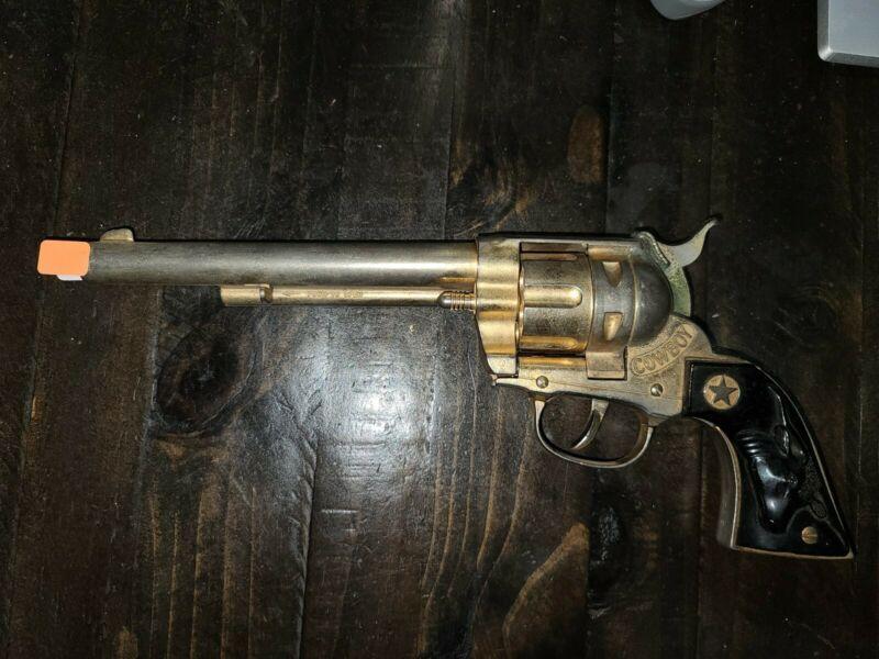 "Vintage Large 12"" Cap Gun Pistol Hubley Cowboy 1950"