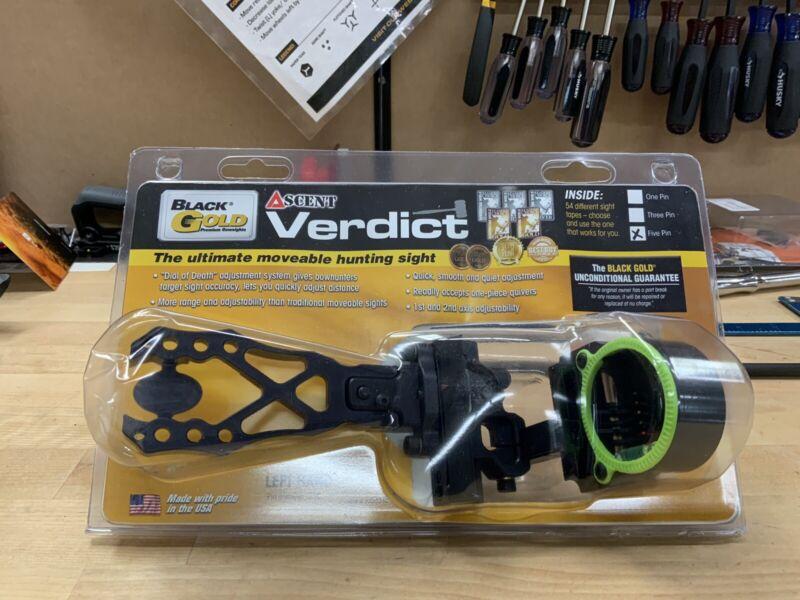 Black Gold Ascent Verdict Archery Sight - Black