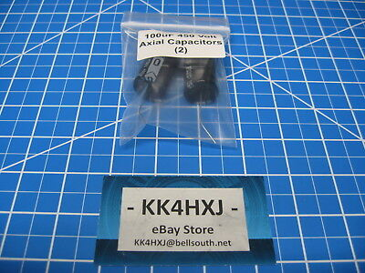 100uf 450v Axial-sc Brand- Gha Electrolytic Capacitors- 105c 2000hr - Lot Of 2