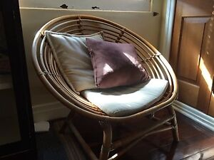 2 X Cane chairs plus ottomans X 2 Coorparoo Brisbane South East Preview