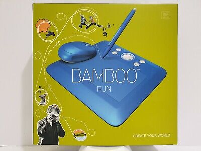 Wacom Bamboo Fun Blue Graphic Tablet #CTE450B for sale  Shipping to India
