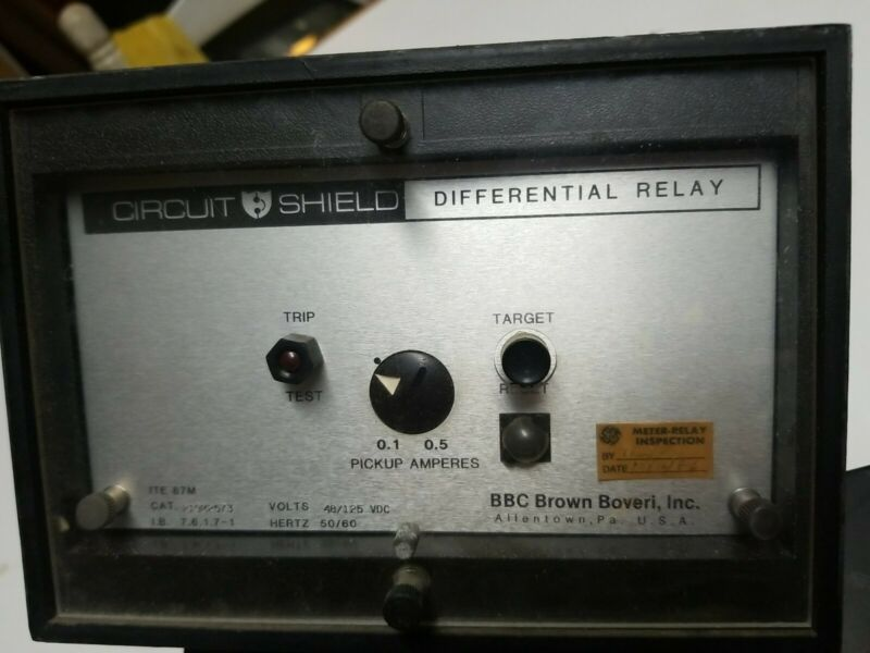 BBC BROWN BOVERI,INC CIRCUIT SHIELD DIFFERENTIAL RELAY