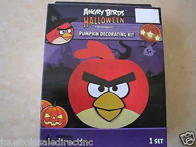 New ! Angry Birds Halloween Pumpkin Decorating Kit Party Time 1 Set  53613 - Angry Birds Halloween Pumpkin