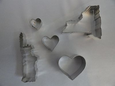 Statue of Liberty, cookie cutter, I love New York, cut out recipe, Gift Ideas. Status Cookie Cutter