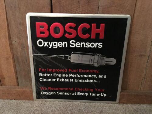 Bosch Oxygen Sensors Spark Plug Embossed Sign Gas Oil Automobile Advertising