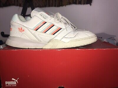 Vintage Adidas AR Trainer. White/blue/orange. UK 9 Great Condition