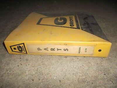 Grove Rt520 Rough Terrain Crane Factory Parts Catalog Manual