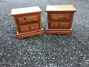 2 solid wood nightstands