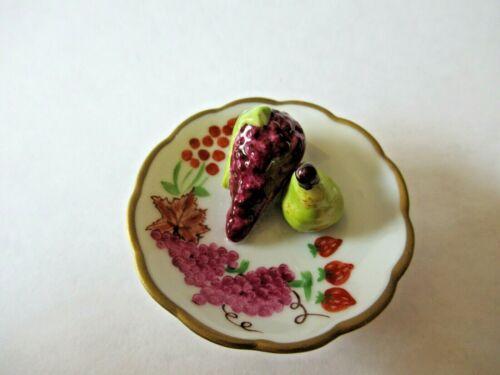Peint Main Limoges Trinket-  Fruit Plate