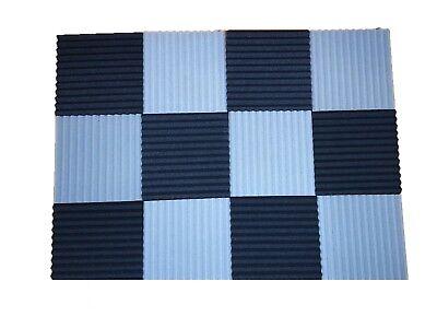 12 pcs Black/Gray Acoustic Foam Black Panel Tile Wall Studio Sound Proof 12x12x1