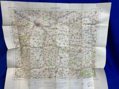 Original WW1 U.S. -Canadian -British- French Trench Map #17 AMIENS dated 1916