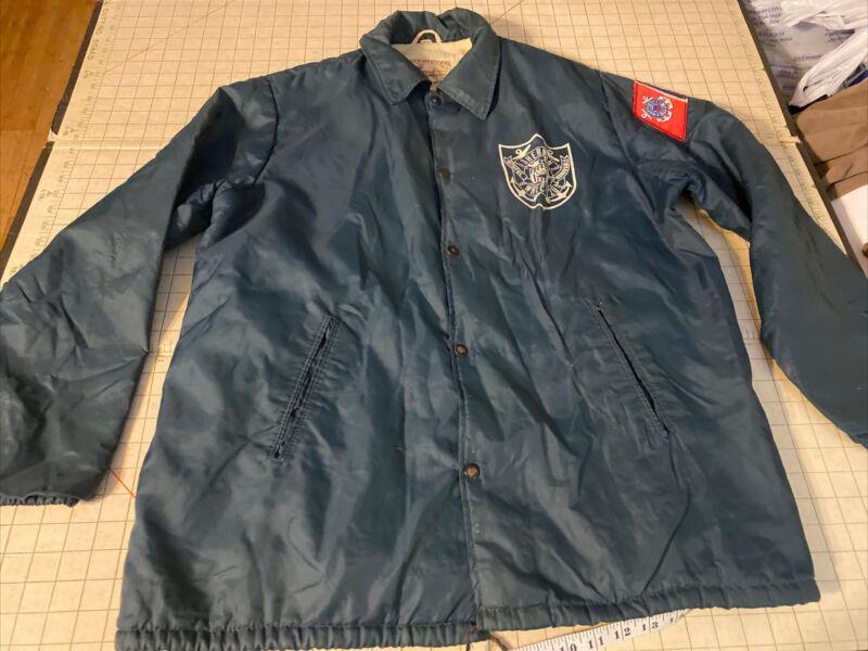 Deerfoot Vintage Wind Breaker Jacket Lined US Coast Guard sherman whec-720 Sz L