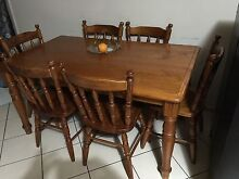 dineing table and 6 chairs pine good condition see pictures Nowra Nowra-Bomaderry Preview