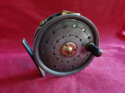 """A GOOD RARE WALTER DINGLEY MADE (STAMPED wD) ST GEORGE PATTERN 3 3/8"""" FLY REEL"""