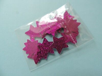 Magenta Peel (25 x Sparkly Magenta STARS Waterproof Peel Off Shiny Stickers Self Adhesive )