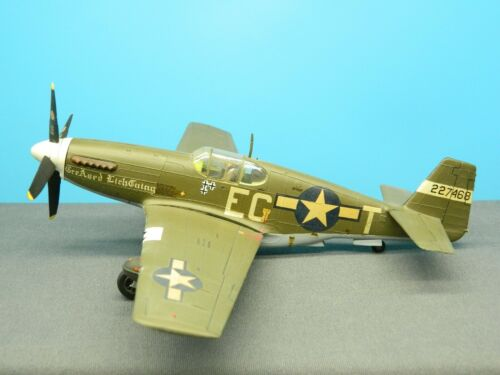 "1/48 BUILT Model Aircraft P-51 MUSTANG ""GREASED LIGHTNING"" 4-Blade Prop European"