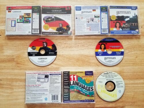 Foreign language software (2 German, one multiple) [Gently used]