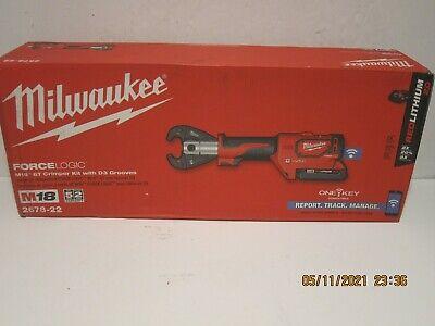 Milwaukee 2678-22 M18 Force Logic 6t Utility Crimper Kit Wd3 Grooves Snub Nose