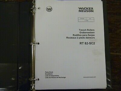 Wacker Neuson Rt82-sc2 Vibratory Trench Roller Compactor Parts Catalog Manual