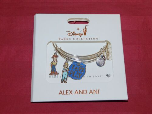 Disney Parks Alex and Ani Toy Story Toys at Play Woody Bangle Bracelet Silver