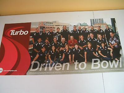 """Pro Bowlers Turbo Driven To Bowl Pba Bowlers Bowling 18"""" X 38"""" Poster"""