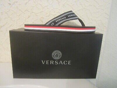 Versace Jacquard Logo Flip-Flop Men's sandals