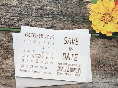 Personalised Magnetic Wedding Save The Date Evening Cards Diamante Envelopes 21a (Wedding Save The Dates)