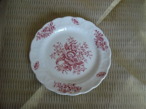 Booths PEONY PINK Bread & Butter Plate  Flowers ENGLAND
