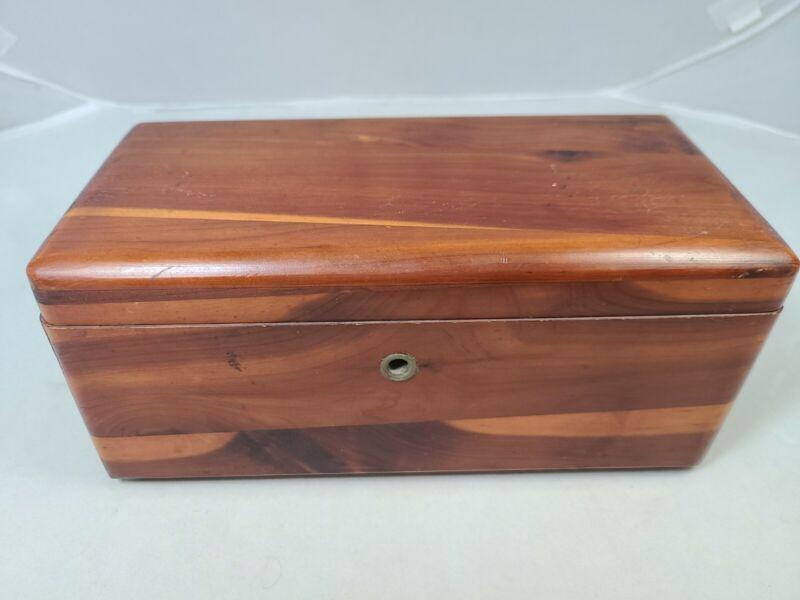 LANE Mini Cedar Chest Wooden Box Altavista,Va. Salesman Sample Trinket Box